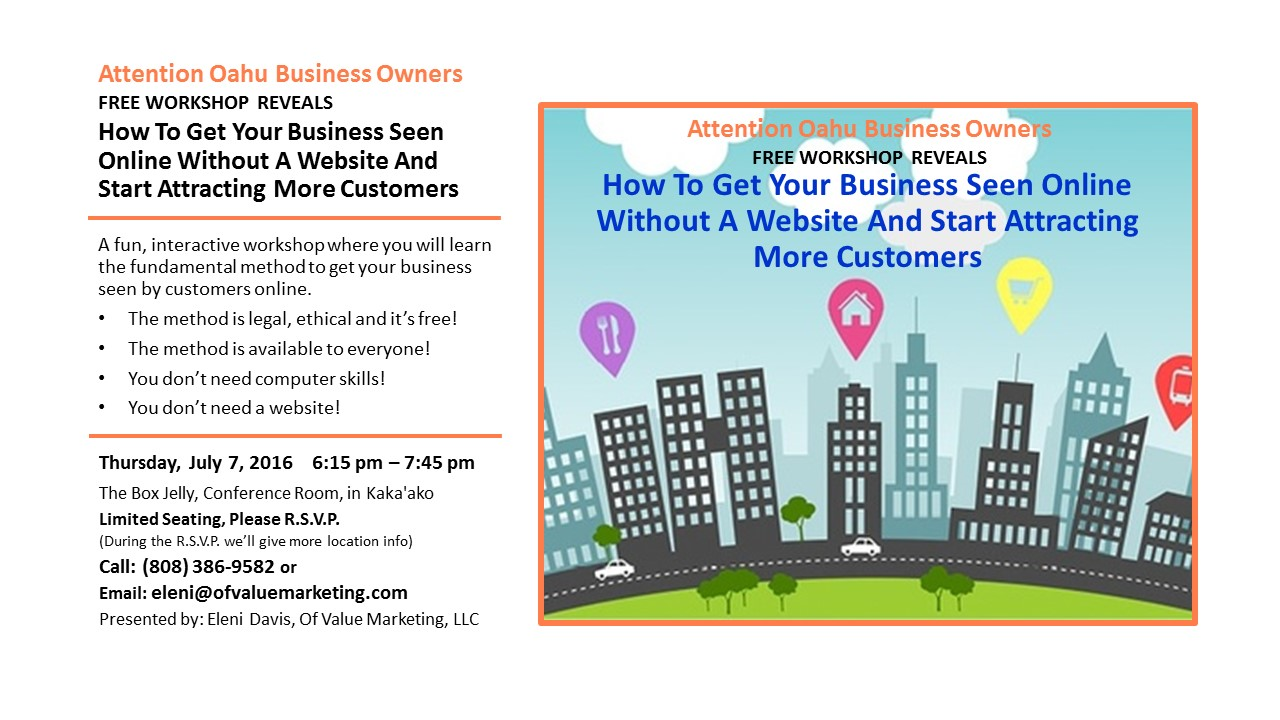 local business marketing workshop invitation